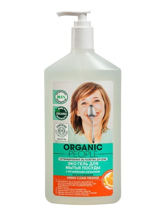 ORGANIC PEOPLE. Экогель для мытья посуды апельсин, 500 мл