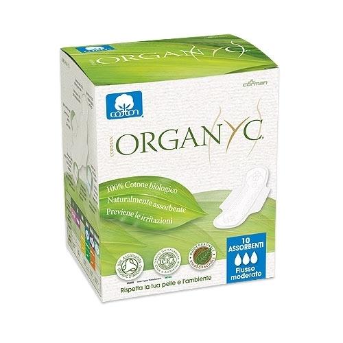 """Organyc. Прокладки с крылышками """"Нормал"""", ультратонкие 3 капли, 10 шт."""