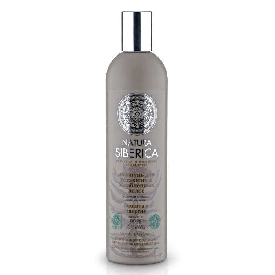 """Natura Siberica. Шампунь для уставших и ослабленных волос """"Защита и энергия"""", 400 мл"""