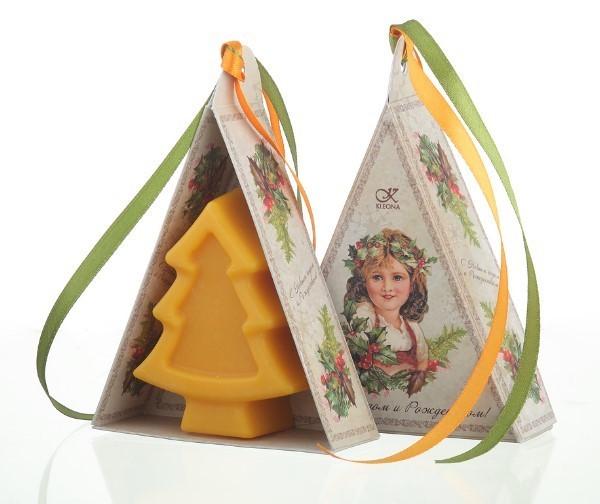 """Клеона. Мыло подарочное """"Рождественский мандарин"""", 78 г"""