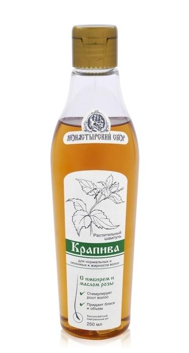"""Клеона. Жидкий шампунь """"Крапива"""" для нормальных и жирных волос, сургуч (цветная ткань), 250 мл"""