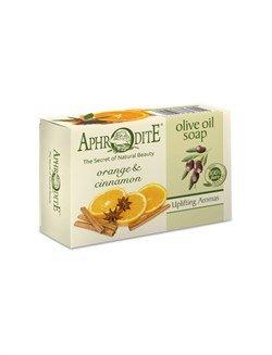 Aphrodite. Мыло оливковое с апельсином и корицей, 100 г