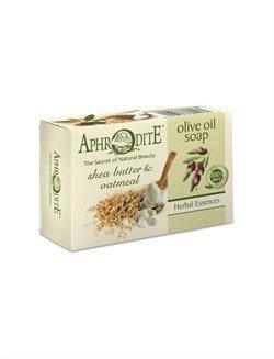 Aphrodite. Мыло оливковое с маслом ши и овсяными хлопьями, 100 г