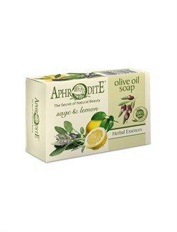 Aphrodite. Мыло оливковое с шалфеем и лимоном, 100 г