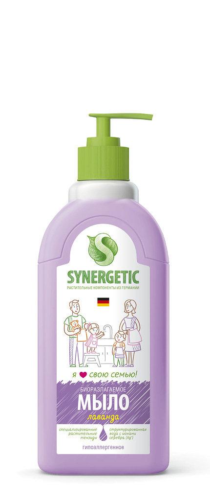 Synergetic. Жидкое мыло лавандовое поле, 0.5 л