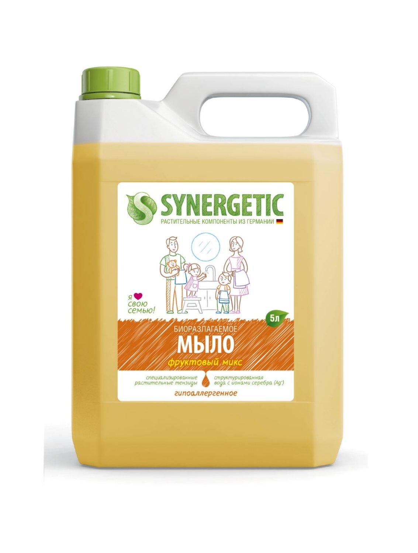 Synergetic. Жидкое мыло фруктовый микс, 5 л