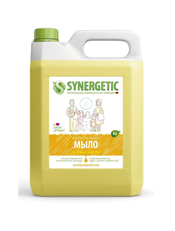 Synergetic. Жидкое мыло полевые цветы, 5 л