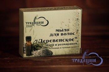 """""""Традиция"""". Твердое мыло """"Деревенское""""(с козьим молоком), 80 г"""