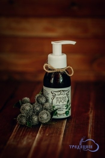 """""""Традиция"""". Репейное масло с еловым маслом и хмелем (с успокаивающим эффектом), 100 мл"""