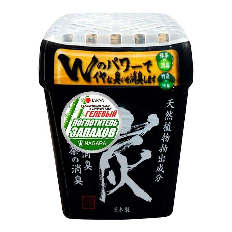 Nagara. Поглотитель запахов гелевый с бамбуковым углем и зеленым чаем, 320 г