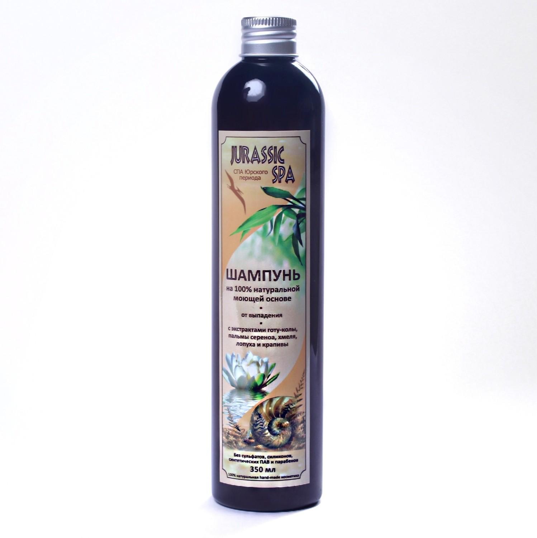 Jurassic Spa. Натуральный шампунь для волос от выпадения, флакон 300 мл