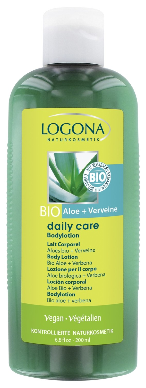 Logona. Daily Care. Лосьон для тела с биоалоэ и вербеной, 200 мл