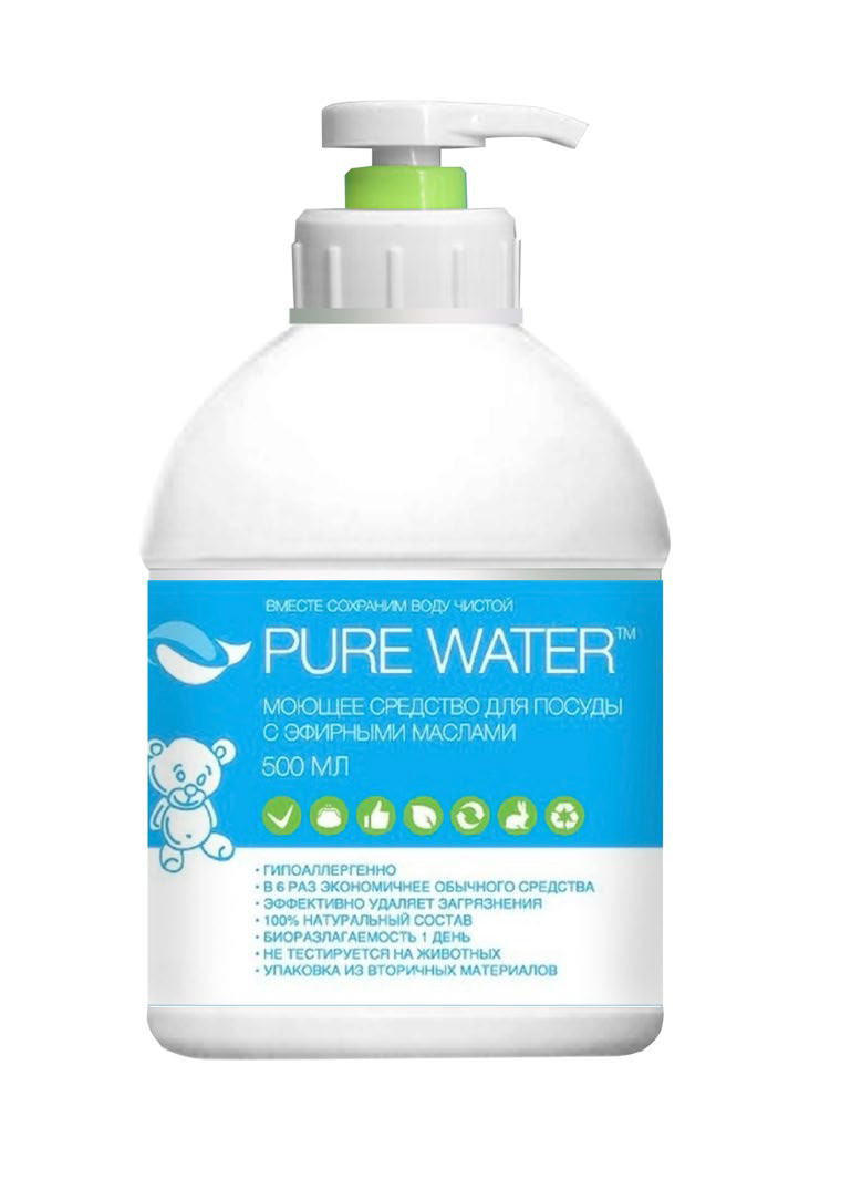 """""""Ми&Ко"""". Средство для посуды Pure Water с эфирным маслом эвкалипта, 500 мл"""