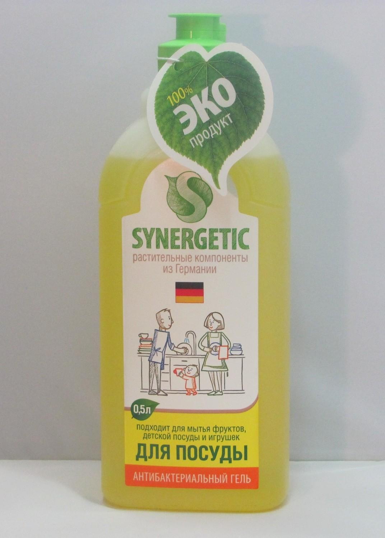 Synergetic. Для мытья посуды яблоко, 0.5 л