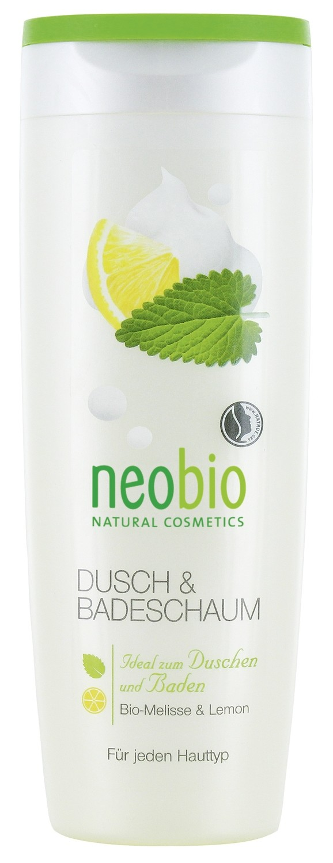 NEOBIO. Пена для душа и ванны с биомелиссой и лимоном, 250 мл