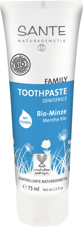 SANTE. FAMILY.  Зубная паста с мятой и фтором, 75 мл