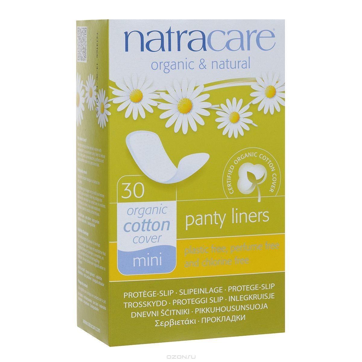 """Natracare. Прокладки на каждый день — """"Дышащие"""" mini, 30 шт."""