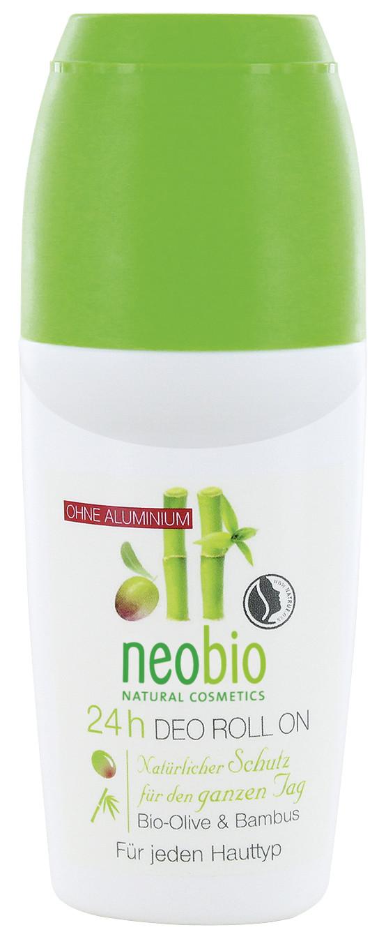 NEOBIO. Дезодорант шариковый 24 часа с биооливой и бамбуком, 50 мл