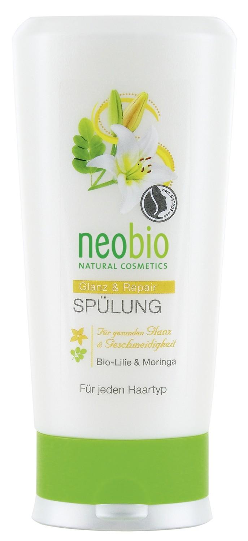 NEOBIO. Кондиционер для восстановления и блеска волос с биолилией и морингой, 150 мл