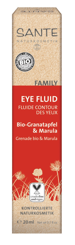 SANTE. FAMILY.  Флюид для кожи вокруг глаз с биогранатом и марулой, 20 мл