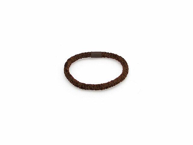 Резинка для волос коричневая