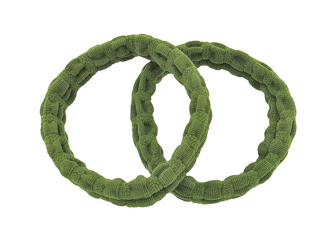 Резинка для волос зеленая