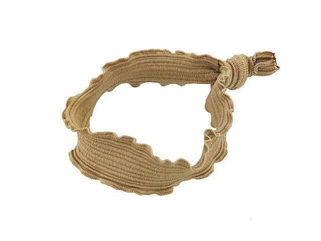 Резинка для волос бежевая