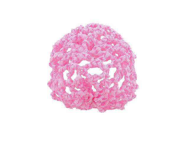 Сетка для прически розовая