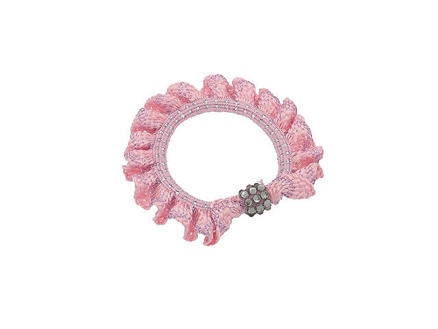 Резинка для волос розовая
