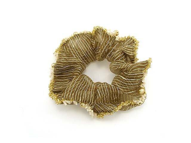 Резинка для волос золотая