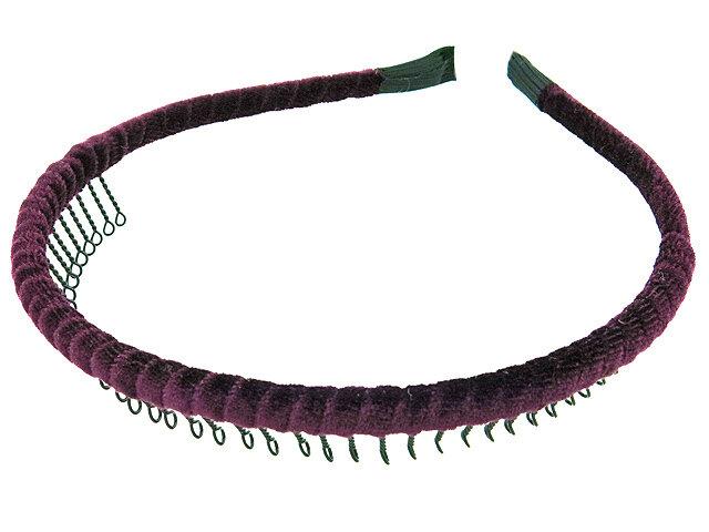 Ободок для волос бордовый