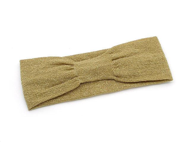 Повязка для волос золотая