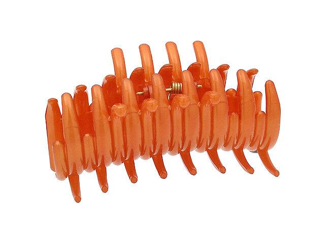 Зажим для волос оранжевый