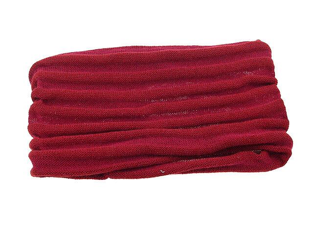 Повязка для волос бордовая