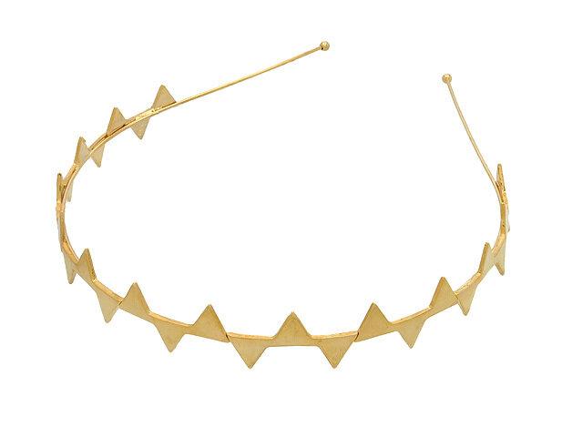 Ободок для волос золотой