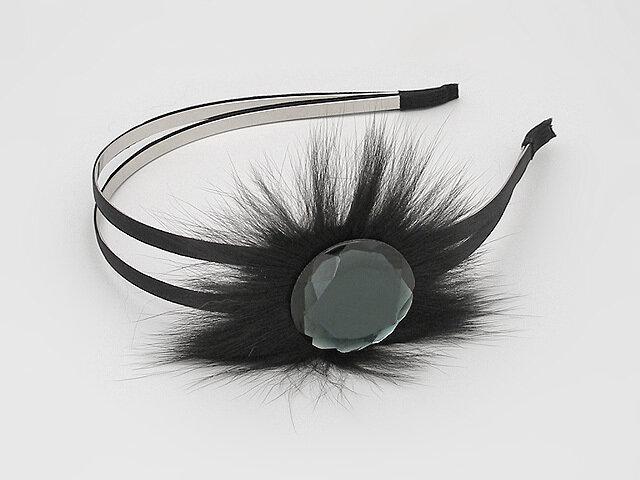 Ободок для волос черный