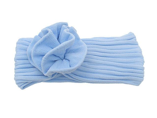 Повязка для волос голубая