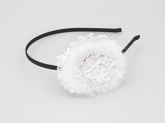 Ободок для волос белый