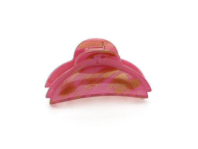 Зажим для волос розовый