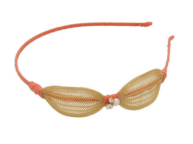 Ободок для волос оранжевый