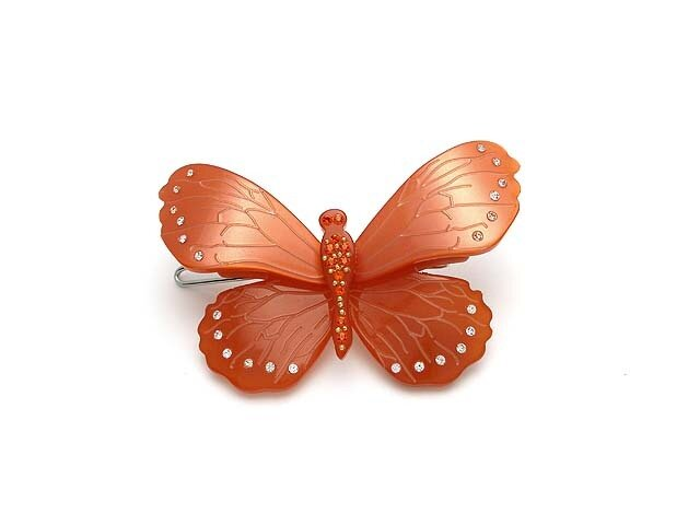 Заколка для волос оранжевая