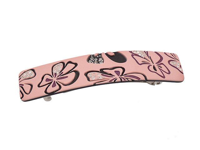 Заколка для волос розовая