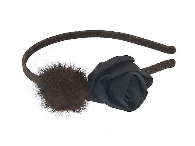 Ободок для волос коричневый