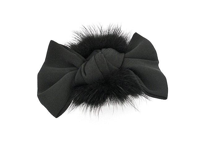 Заколка для волос черная