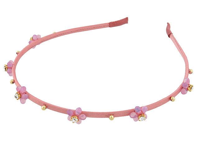 Ободок для волос розовый