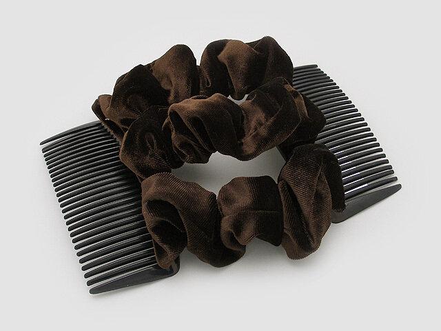 Гребень для волос коричневый