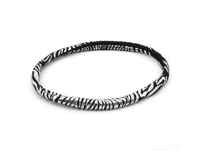Повязка для волос серебряная