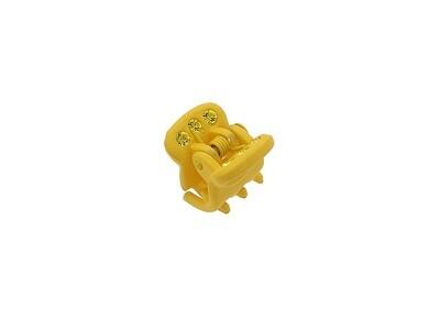 Зажим для волос мини желтый