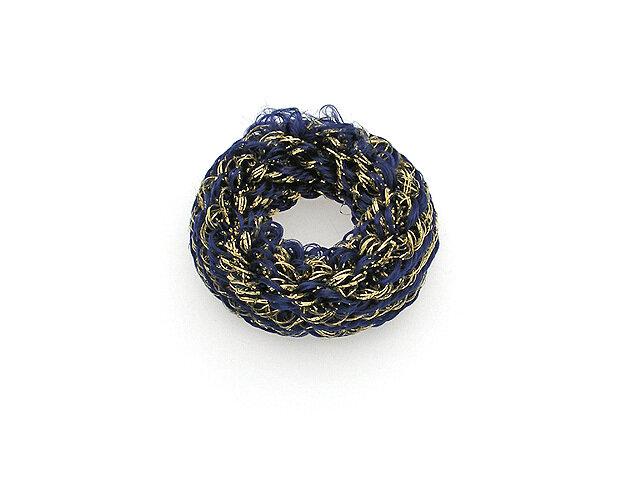 Резинка для волос синяя