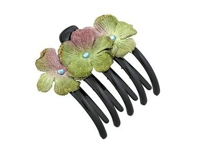 Зажим для волос зеленый